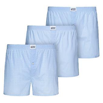 Jockey USA Originali Intrecciati Boxer 3 Pack - Camicie Blu