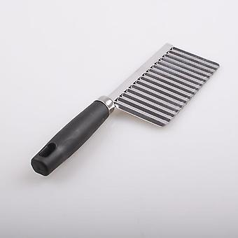 Stainless Steel Potato Chip - Dough  Vegetable  Crinkle Cutter Blade Slicer