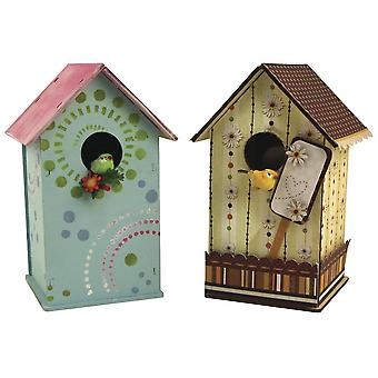 17cm houten build-your-own mini bird box of birdhouse