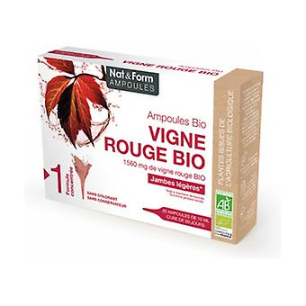 Organic Red Vine 20 ampoules of 10ml