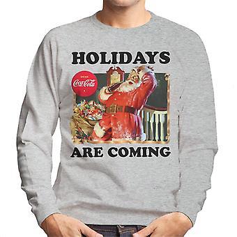 Coca Cola Kerst vakantie zijn coming Santa mannen ' s Sweatshirt