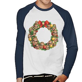Thunderbirds Kerstkrans Multiface The Hood Men's Baseball Long Sleeved T-shirt
