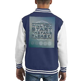 The Crystal Maze Will You Start The Fans Please Tonal Kid's Varsity Jacket