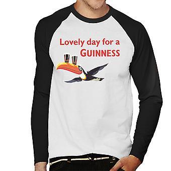 Lovely Day For A Guinness Men's Baseball Long Sleeved T-Shirt