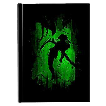 Alien Vs Predator Green Hardback Journal