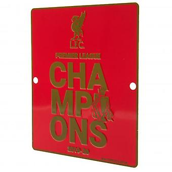 Liverpool Premier League Champions Window Sign