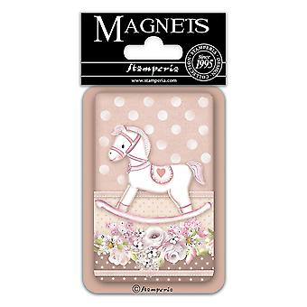 Stamperia Baby Girl Rocking Horse 8x5.5cm Magnet