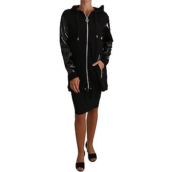 Versace Black Zip Parka Coat Hood Jacket -- JKT2009584