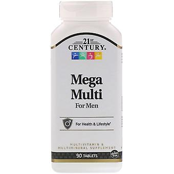 21st Century, Mega Multi pour hommes, Multivitamine & Multimineral, 90 Tablettes