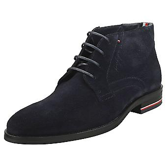Tommy Hilfiger Signature Mens Chukka Boots in Desert Sky