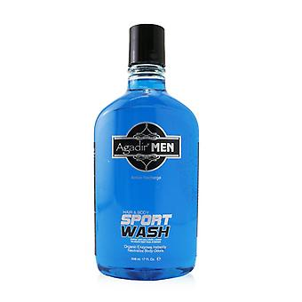 Agadir Men Active Recharge Hair & Body Sport Wash - 508ml/17oz