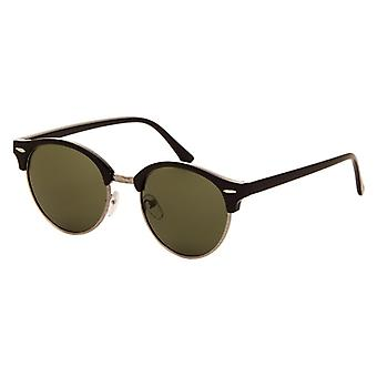 Sunglasses Unisex black with green lens (AZ-2160)