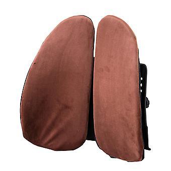 مسند الظهر مع حزام مرن يمكن أن تسخين وسادة دعم أسفل الظهر وتخفيف آلام الظهر