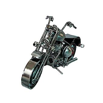 Iron Motorcycle Model Retro Figurine For Home Decor Black