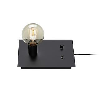 1 Lampada da tavolo interno leggera Nero, E27