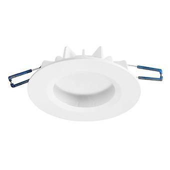 Integrated LED 1 Light Recessed Downlight Matt White IP44 - Warm White