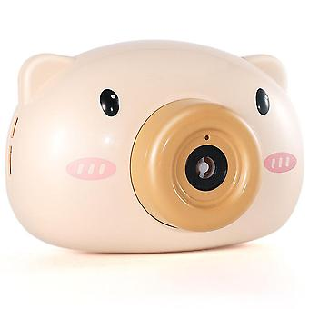 Cute Cartoon Pig Camera Bubble Machine Kids Toys - Giocattoli Bambini Baby Music Outdoor Automatic Bubble Maker Gift