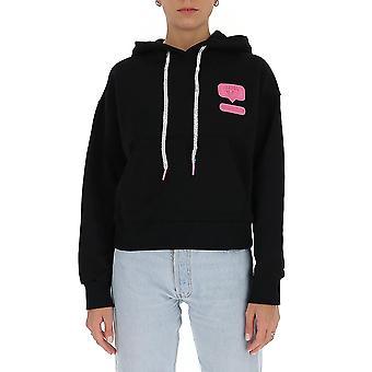 Chiara Ferragni Cff133blk Femmes-apos;s Sweat-shirt en coton noir
