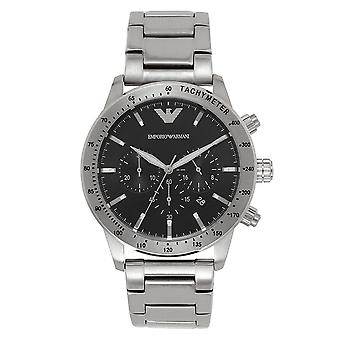 Armani Ar11241 Sort og rustfrit Herre Watch