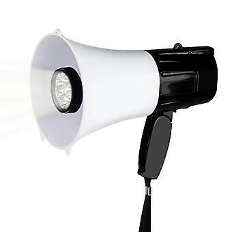 Multifunction Megaphone Speaker With Flashlight 30w Strap Grip Hand Loudspeaker