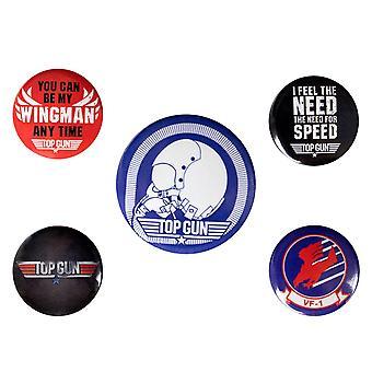 Top Gun, 5x Pins - Iconic