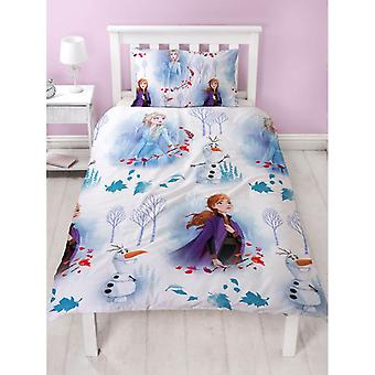 Frozen 2 Element Duvet Cover Bed Set Reversible 135x200+48x74cm
