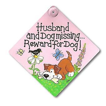 الزوج شيئا مختلفاً والكلب في عداد المفقودين/مكافأة لتسجيل نافذة الكلب