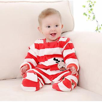3m-12m Infant Footies Newborn Baby Winter Clothes Colorful 100% Cotton