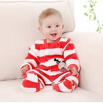 3m-12m الرضع القدمين حديثي الولادة ملابس الشتاء ملونة 100٪ القطن