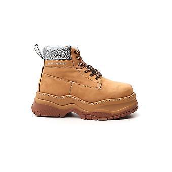 Chiara Ferragni Cf2728046 Women's Beige Leather Ankle Boots