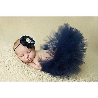 Newborn Tutu Skirt With Matching Flower Headband Stunning Newborn Photo Prop