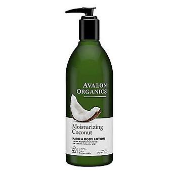 Avalon Organics Moisturizing Hand & Body Lotion Coconut, 12 Oz