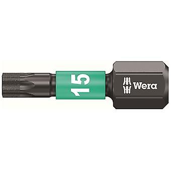 Wera 867/1 Impaktor Insérer Bit Torx TX15 x 25mm (Boîte 10) WER057623