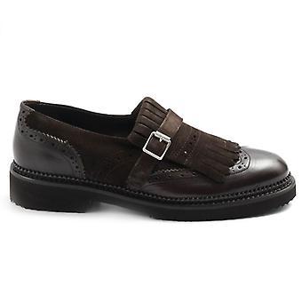 Zapato Sangiorgio Marrone con flecos y hebilla