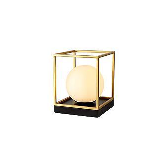 Melissa Table Lamp, 1 Light E14, Matt Black/painted Gold