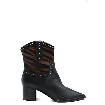 Alberto Gozzi Ezbc452001 Women's Black Leather Ankle Boots