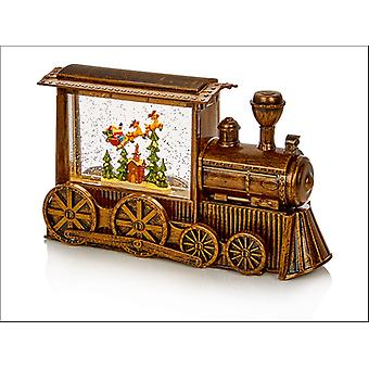 Premier Decorations Train Water Spinner Gold 29cm LB184644