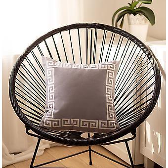 Couverture d'oreiller décorative imprimée grecque de clé