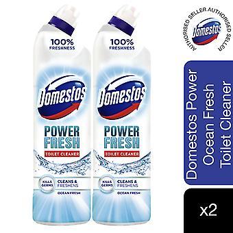 Domestos Power Fresh Ocean Fresh Antibacterial Toilet Cleaner 700ml, 2pk