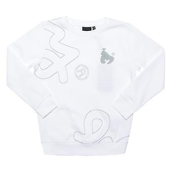Boy's Money Junior Massive Sig Crew Sweat in White