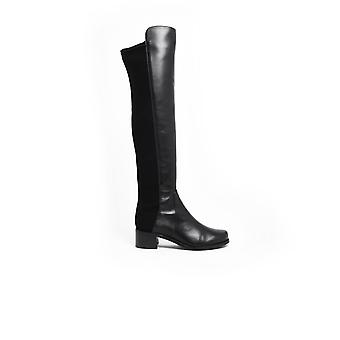 Stuart Weitzman S4002black Women's Black Leather Enkellaarsjes