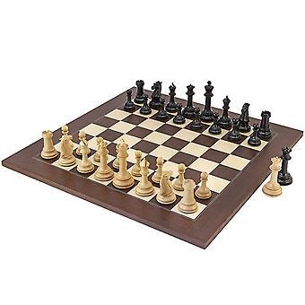 بارثينون روزوود والأبنوس الشطرنج مجموعة