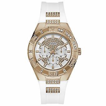 Indovina l'orologio da donna con quadrante bianco analogico W0653L4