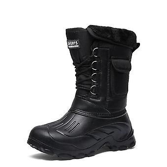 الشتاء التمويه الثلج / المطر الأحذية الأحذية للماء مع الفراء أفخم ذكر دافئ