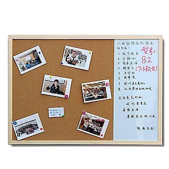 Whiteboard Cork Board Combinatie 3:1 Dry Wipe Bulletin tekentafel