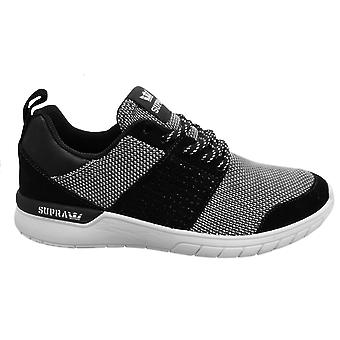 Supra Scissor Mens Trainers Black White Lace Up Casual Running Shoes 08027 009
