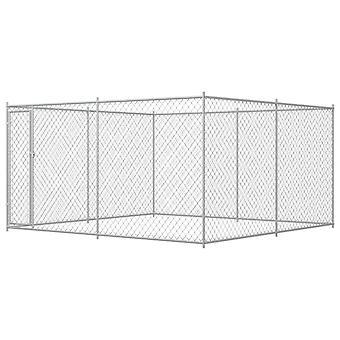 Outdoor dog kennel 4 x 4 x 2 m