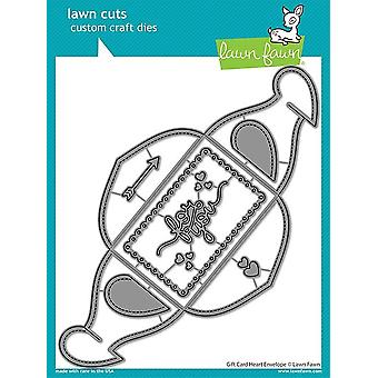 Lawn Fawn Gift Card Heart Envelope Dies
