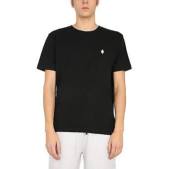 Marcelo Burlon Cmaa075r21jer0011001 Men's Black Cotton T-shirt