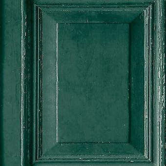 Wood Panels Wallpaper Green